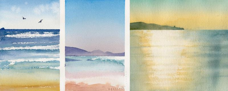 Wasser, Wellen & Meer malen – Aquarell Basics
