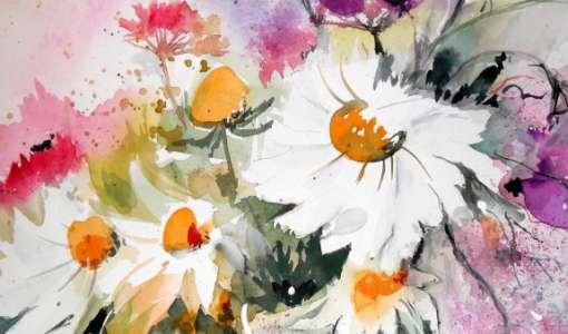 Blütenpracht in Aquarell - leicht und locker aquarellieren